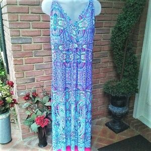 Maxi Dress by New Directions Woman Like New 1X